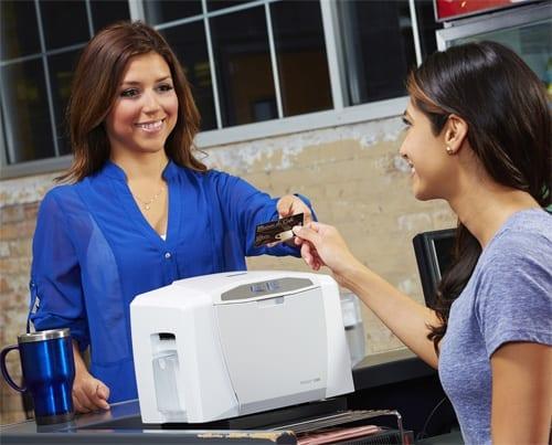 Membership cards printer being used in Australia