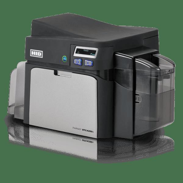 HID Fargo DTC4250e Plastic ID Card Printer side view
